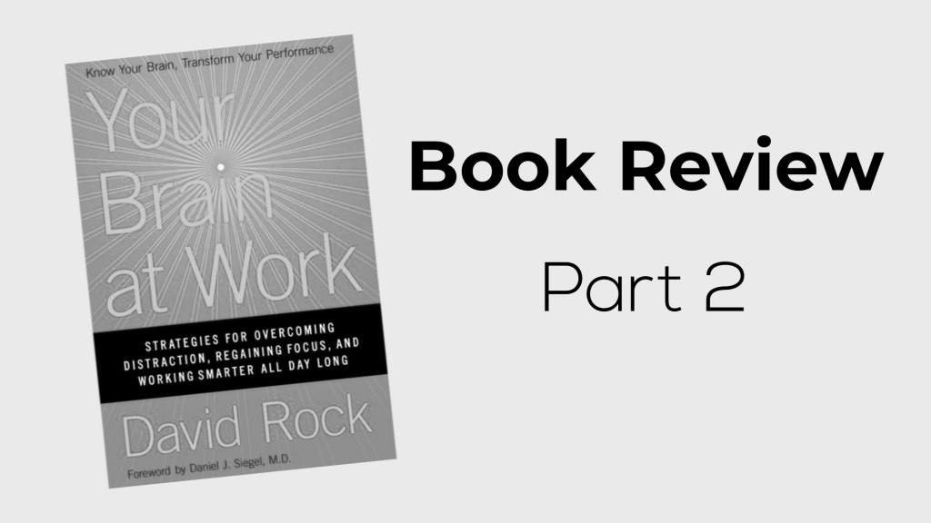 Your Brain at Work, by David Rock: Book Review – Part 2