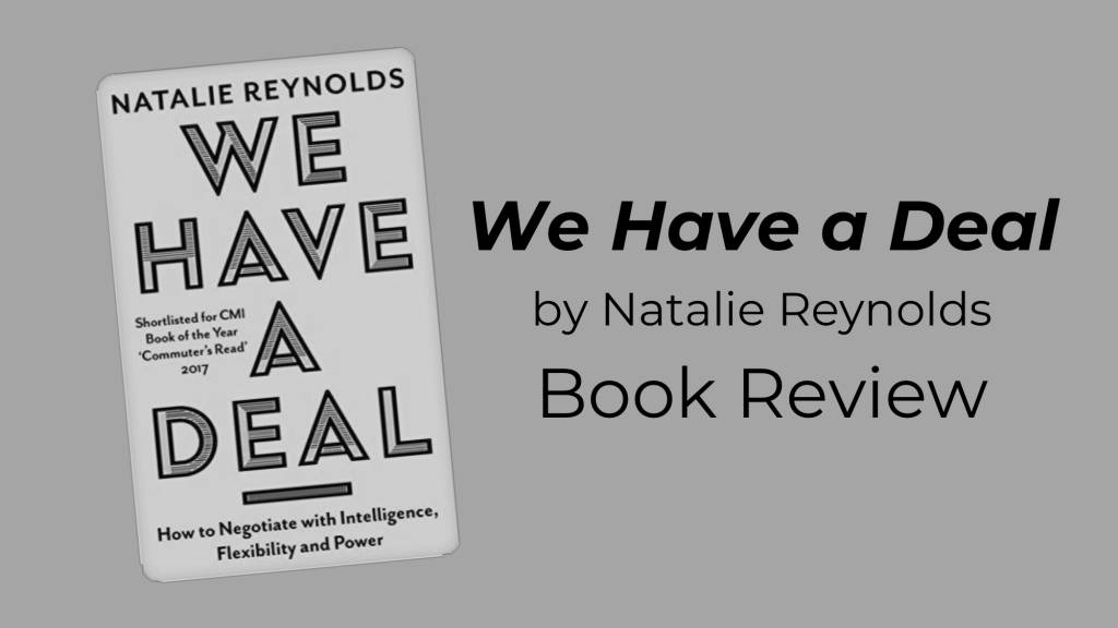 """""""We Have a Deal,"""" by Natalie Reynolds: Book Review"""